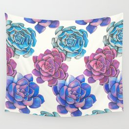 Vibrant Succulents  Wall Tapestry