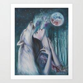 Moon Howl Art Print