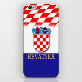 Croatian Flag Pattern EURO 2016 iPhone Skin