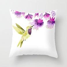 Lucifer Hummingbird Throw Pillow