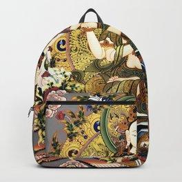 Chenrezig Avalokitesvara Bodhisattva Tibetan Buddhist Gray Backpack