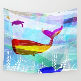 balena Roja Wall Tapestry