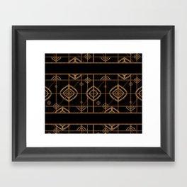 Dark Geometric Abstract Pattern Framed Art Print