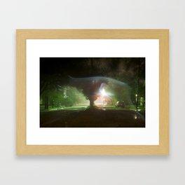 Green Sandy Framed Art Print