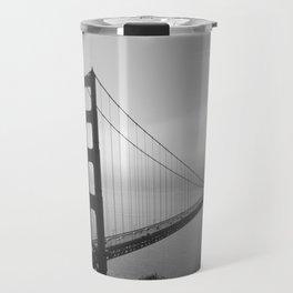 The Golden Gate Bridge In A Mist Travel Mug