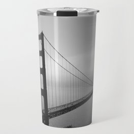 The Golden Gate Bridge In A Mist Travel Mug