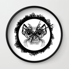Half Hairy Angry Monkey Wall Clock