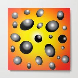Space Abstract Art - Orange Yellow Gradient  Metal Print