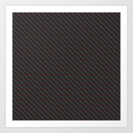 Carbon fibre - red wire reinforcing Art Print