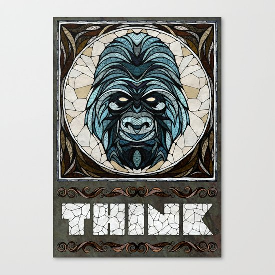 Think Canvas Print