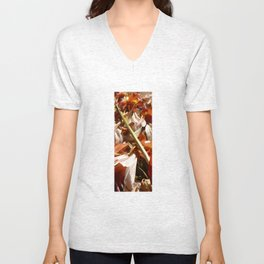 Flowers on a table  Unisex V-Neck