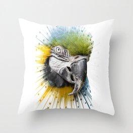 parrot bird star burst Throw Pillow