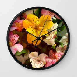 Lily of the Incas Bouquet Wall Clock