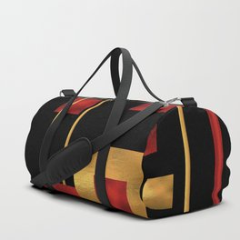 Red and Gold Foil Blocks Duffle Bag