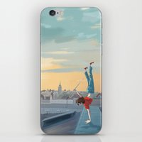 daredevil iPhone & iPod Skins featuring Daredevil  by Lesley Vamos