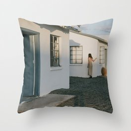 Don't Blend In // Roy's Motel, Route 66 California Throw Pillow