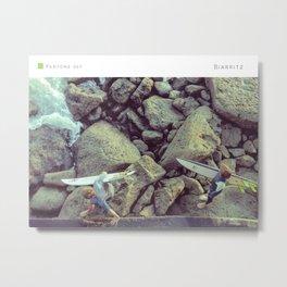 Pantone: Biarritz Metal Print