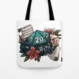Bard Class D20 - Tabletop Gaming Dice Tote Bag