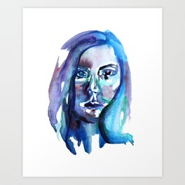 Watercolor portrait 1 Art Print