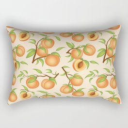 Practice What You Peach - Peach Pattern Rectangular Pillow