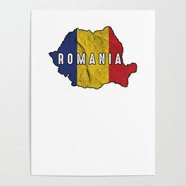 Patriotic Romania Flag Roman Patriotic Nationalism Poster