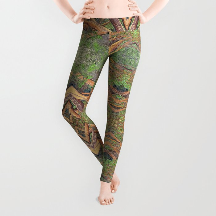 ORCAS ISLAND MADRONA TREES IN A PARALLEL REALITY FOREST Leggings
