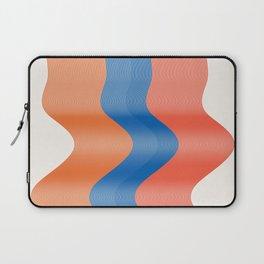 minimalist lines orangart, interior, drawing, decor, design, bauhaus, abstract, e blue red scandi - Laptop Sleeve