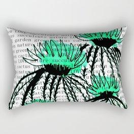 Cactus 77 green Rectangular Pillow