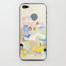 ON SUNDAYS I DON'T TALK iPhone & iPod Skin