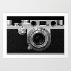 Classic Camera Illustration Art Print