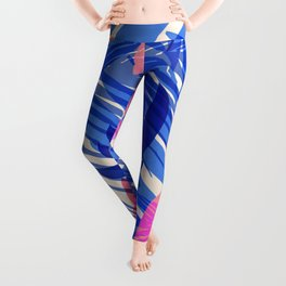 Breezy Tropics / Bright Abstract Floral Print Leggings