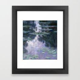 Monet - Water Lilies (Nymphéas), 1907 Framed Art Print