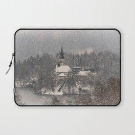 Snowy Bled Island Laptop Sleeve
