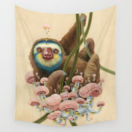 Silly Sloth Wall Tapestry