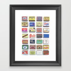 Strike Framed Art Print