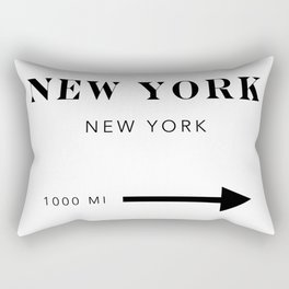 New York New York City Miles Arrow Landscape Rectangular Pillow