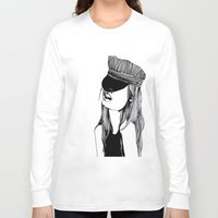 mad hatter Long Sleeve T-shirts featuring MAD HATTER by ZOBOHO