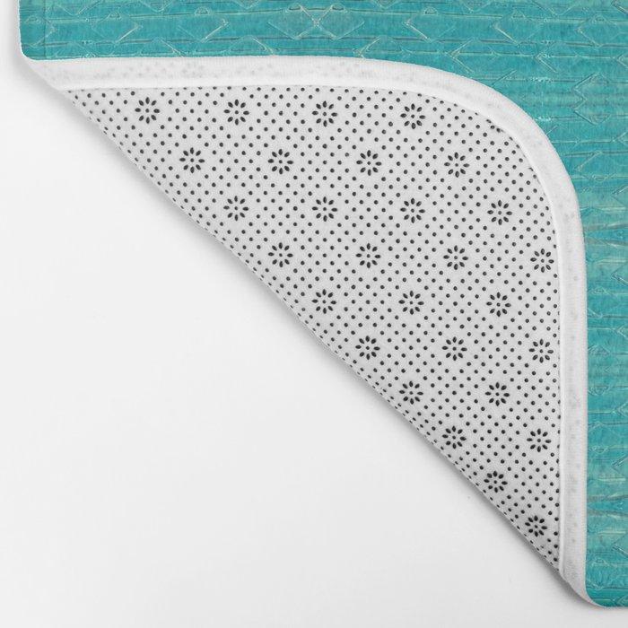 Blue Glass Diamonds Bath Mat