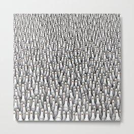 Geese army Metal Print