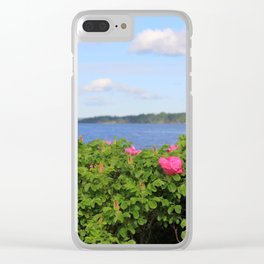 Melmerby Beach Wild Rose Clear iPhone Case