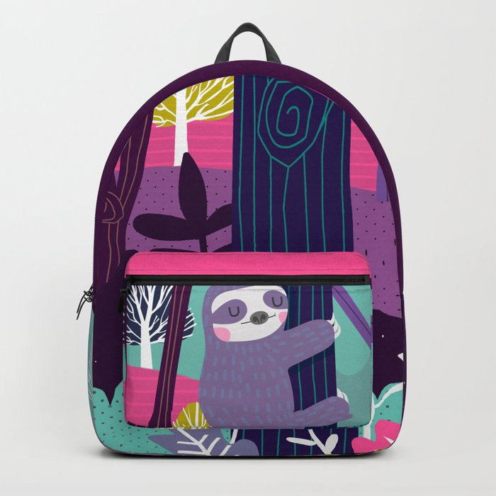 Sloth in the woods Backpack