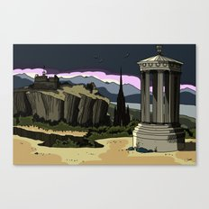 Edinburgh in a different light Canvas Print
