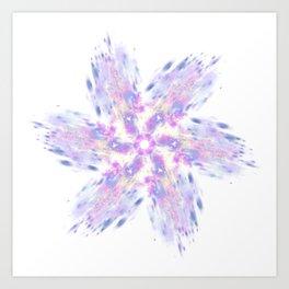 Absract stylized flower Art Print