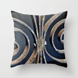 Iron at the Crypt Throw Pillow