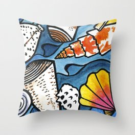 Lots of Lovely Shells  Throw Pillow