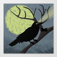crow Canvas Prints featuring Crow by Nir P