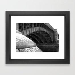 Longfellow Bridge in the Winter Framed Art Print