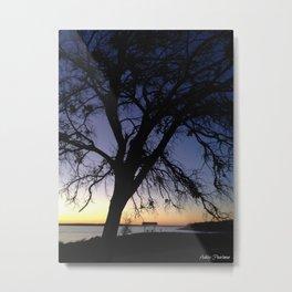 Silhouette at Nightfall  Metal Print
