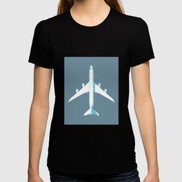 747-8 Jumbo Jet Airliner Aircraft - Slate T-shirt