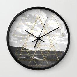 Gold Glitter Sacred Geometry Wall Clock
